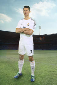 Cristiano Ronaldo tackled his way through football ground