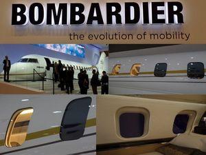 Bombardier Global 7000 - SPD-Smart Cabin Windows Installed on Global 7000 Mockup