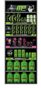 MusclePharm Product Wall