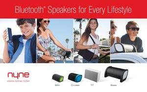 NYNE Lifestyle Inspired Portable Bluetooth Speakers
