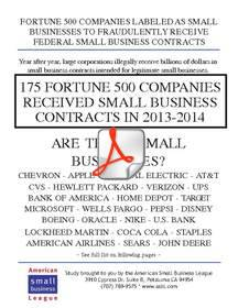 175 Fortune 500 Companies Received Small Business Contracts in 2013