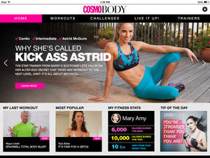 Cosmobody.com for free workout videos
