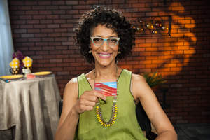 """Bravo's """"Top Chef"""" fan favorite and co-host of ABC's """"The Chew"""", Carla Hall teamed up with AARP® Credit Card from Chase to provide """"destination dining"""" tips for those with no time to waste and plenty of reasons to enjoy a night out at a fun, new restaurant. (Photo credit:Scott Gries)"""