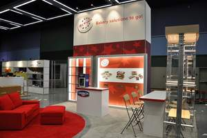 20x20 island display Rental Trade Show Booth from E & E Exhibit Solutions