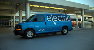 VIA Motors,electric vehicle,van,electric van,hotel shuttle,airport,hybrid,plug in 2014,Volt,Tesla