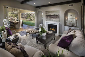 Indoor-outdoor living at Brookfield Sentinels at Del Sur in San Diego.