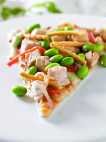 Asian Chicken Edamame Pizza