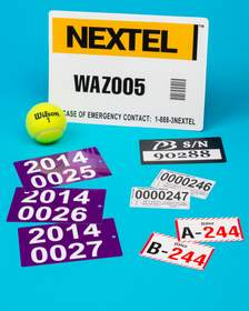 NFi Extra Large Serial Numbered Labels