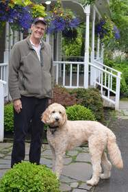 Seattle Dentist Dr. Robert Berman and Therapy Dog, Humphrey