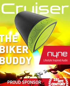 NYNE Cruiser Bluetooth Speaker Century Bike Tour