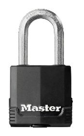 In case of inclement weather, lock up all possible outdoor belongings in a covered shed or garage, and secure the door with a padlock built to survive extreme weather situations, such as the Master Lock M115XDLF Covered Laminated Padlock.