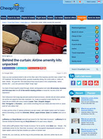 Behind the curtain: Airline amenity kits unpacked
