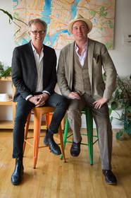 Jon Christensen and Eric Rodenbeck at Stamen Design's San Francisco studio. Photo by Jessica Lifland, courtesy of Stamen Design.
