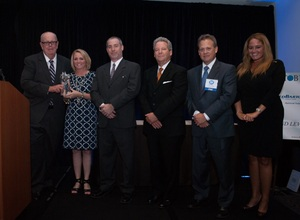 Mike Coleman (far left) receives award from representatives of BOMA/Philadelphia