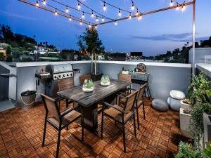 Rooftop decks at SL70 in Silver Lake offer breathtaking views of the LA skyline