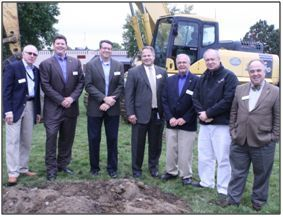 TruStone Financial Board of Directors and Chief Executive Officer Tim Bosiacki break ground on the credit union's new 5,500 square foot Golden Valley location.