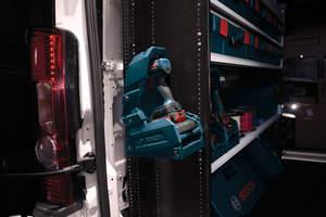 Bosch Power Ready Wireless System Mounted in Van