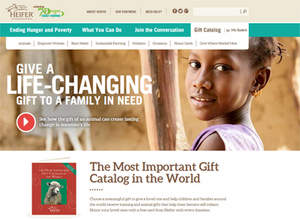 When you give a gift from Heifer International's Most Important Gift Catalog in the World, you're giving something big- the tools that can help move a family beyond hunger and prove their power over poverty. This holiday season, honor your loved ones with a meaningful gift that can help children and families around the world.