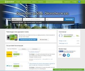 Glassdoor French Homepage