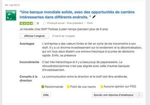 BNP Paribas Company Reviews on Glassdoor.fr