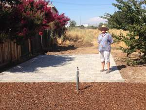 Elk Grove Community Garden Paving Stone Patio