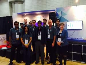 BlueData team at Strata + Hadoop World 2014.