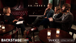 Citi, Live Nation, and Yahoo Introduce New Backstage With Citi Interview Series Featuring Katie Couric; Web Series On Yahoo Music Kicks off with Conversation with Lady Antebellum