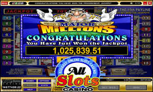 Major Millions won at All Slots Casino