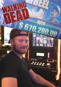A Texas man visiting Las Vegas won $670,280.00 playing Aristocrat's The Walking Dead(TM) Slot Game at Sunset Station Hotel Casino.