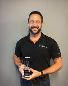 Brent Gleeson with Brand Diego Award