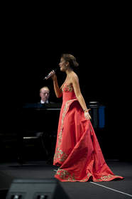 """Carly Paoli performs """"Because of You"""" at International Womens Media Foundation 25th Anniversary Courage in Journalism Awards -- Beverly Hills, CA"""
