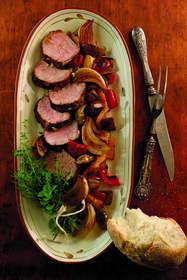 Pork Tenderloin with Balsamic Roasted Vegetables