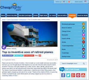 Cheapflights.com Top 11 Inventive Uses of Retired Planes