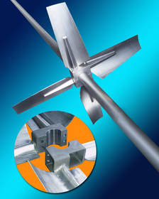 Sharpe HYFLO Impellers featuring a split-hub