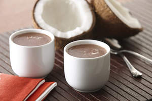 Pumpkin Pie Spiced Hot Chocolate with Coconut Milk