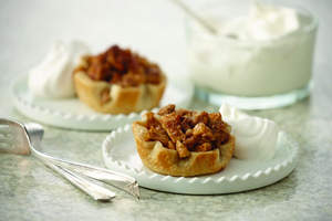 Easy Mini Apple Pies with Vanilla Whipped Cream