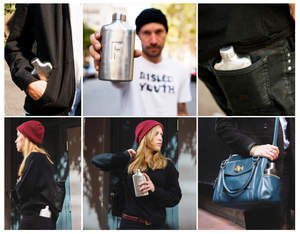 Designed to fit perfectly in pockets, the flask shape enables people to carry more water with them more often.  These Fred Water Flasks are guaranteed against defects, BPA-Free and are available in brushed steel, charcoal, white and additional colors.