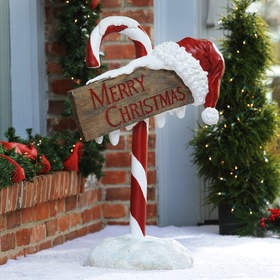 Merry Christmas Candy Cane Sign - $149.99