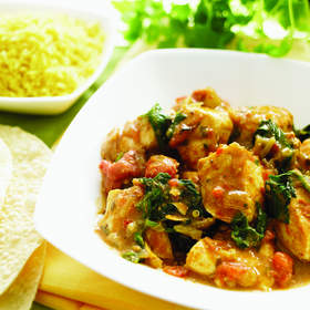 Curried Turkey with Raisins and Mushrooms