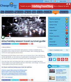 Cheapflights.ca 2014 holiday season travel survival guide,
