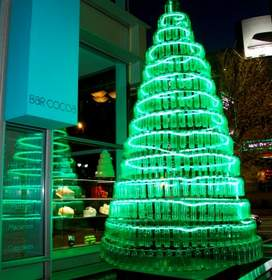 The Environmentally Friendly Bottle Tree at The Ritz-Carlton, Charlotte.