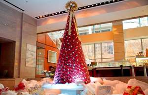 The 8,000 macaroon holiday tree at The Ritz-Carlton, Charlotte