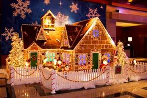 A whimsical Gingerbread House at The Ritz-Carlton, Charlotte