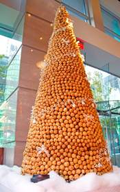 Croquembouche puff pastry tree at The Ritz-Carlton, Charlotte