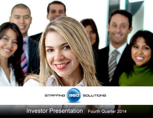 Staffing 360 Solutions Releases Updated Investor Presentation