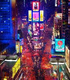New Years Eve party Times Square