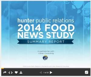 Hunter Public Relations 2014 Food News Study Summary Report