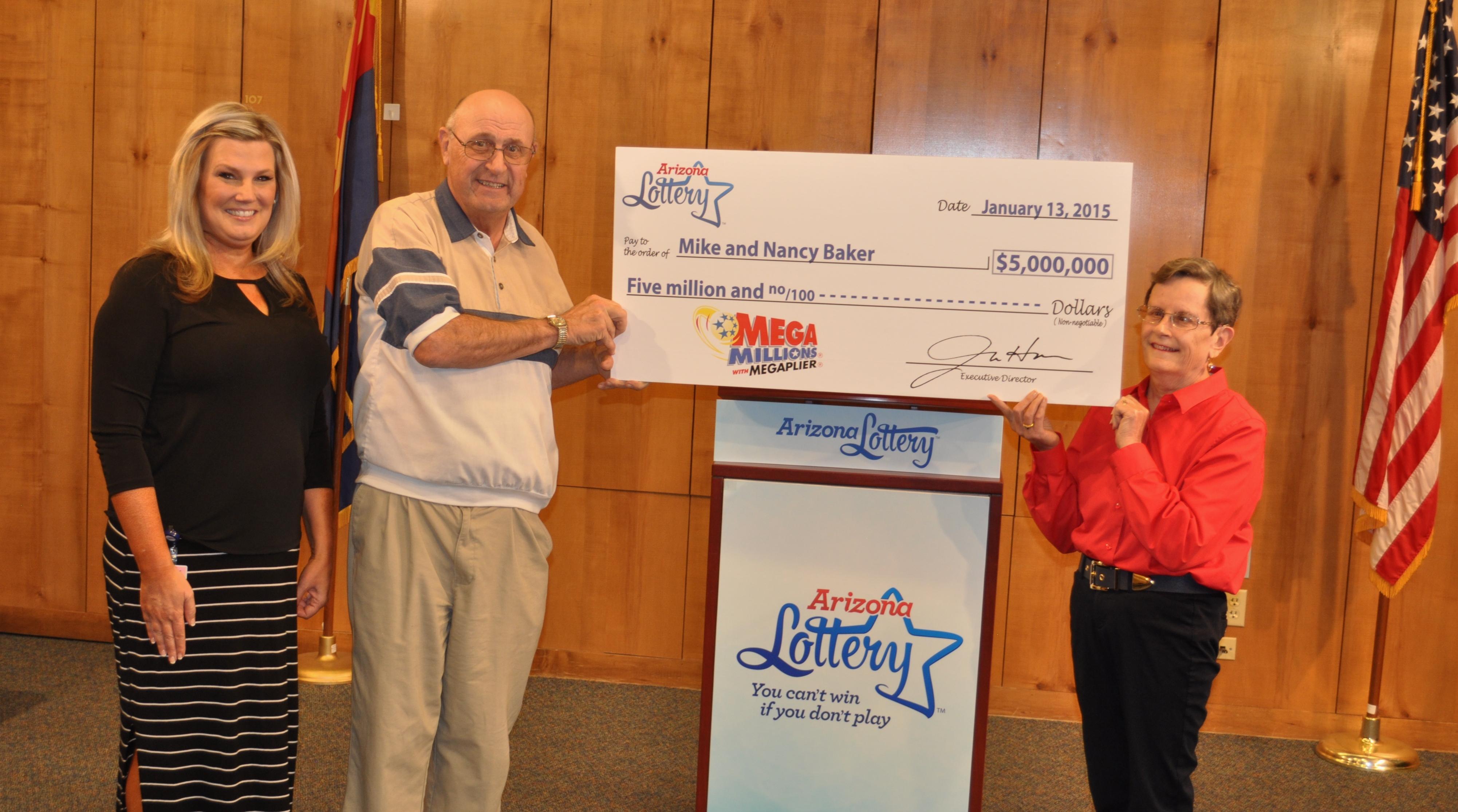 Sun City West Couple Claims 5 Million Mega Millions R Winning Ticket