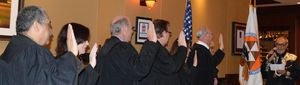 Shingle Springs Band of Miwok Indians Tribal Chairman, Nicholas Fonseca, swears in judges.