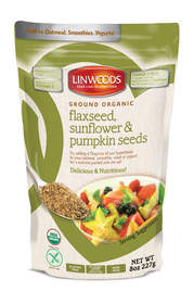 Ground Organic Flaxseed, Sunflower, Pumpkin Seeds